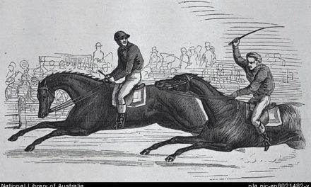 The 1849 Plough Cup (for Thoroughbred Horses) at Mill Park.