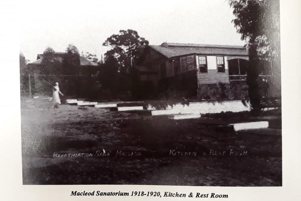 Macleod Repatriation Sanatorium for returned WW1 soldiers